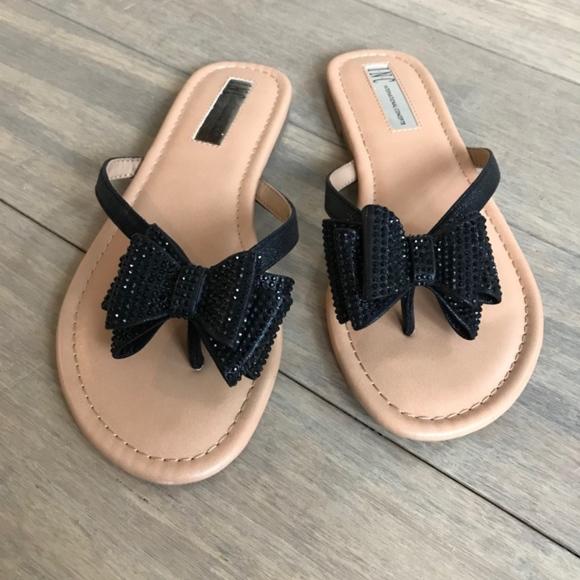 fcbd72edb1ce INC International Concepts Shoes - INC Mabae Bow Flat Sandals